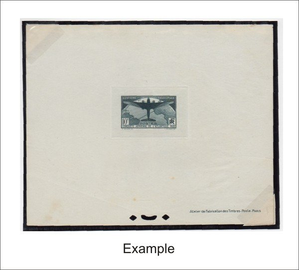 27: France (C16-7) 1936 Trans Atlantic Deluxe Proofs