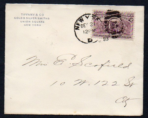 16: US (231) Tiffany Cover 1893