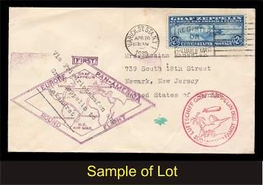 30: US (C13-15) Zeppelin Covers 1930