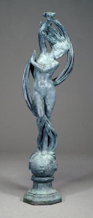 1: Patinated composition model of a maiden