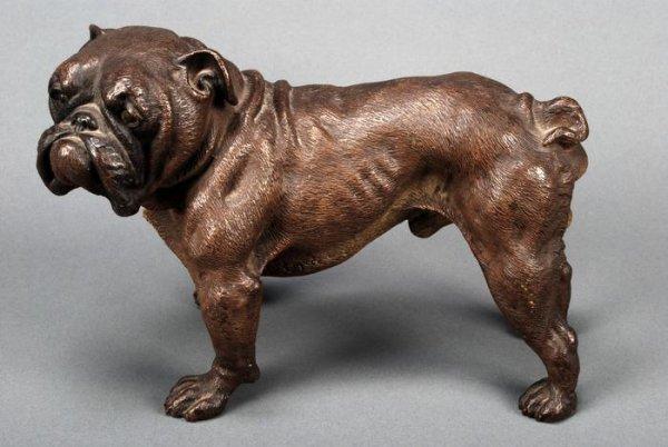 7: Cold painted bronze bulldog