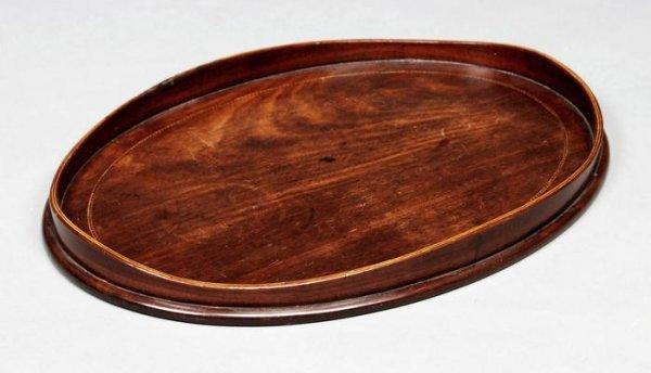12: George III oval tray