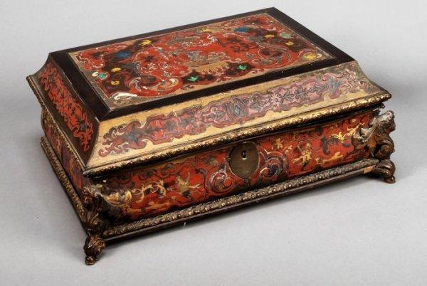 24: A Napolean III tortoiseshell and gilt metal workbox