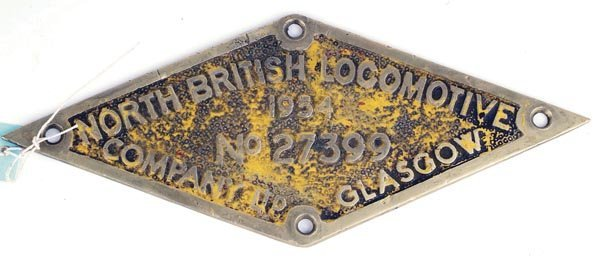 3: A Class 25 North British railway plate