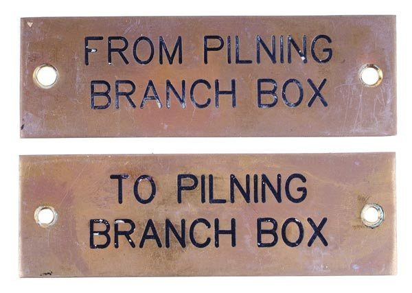 16: Two Pilning Signal Box Shelf Plates