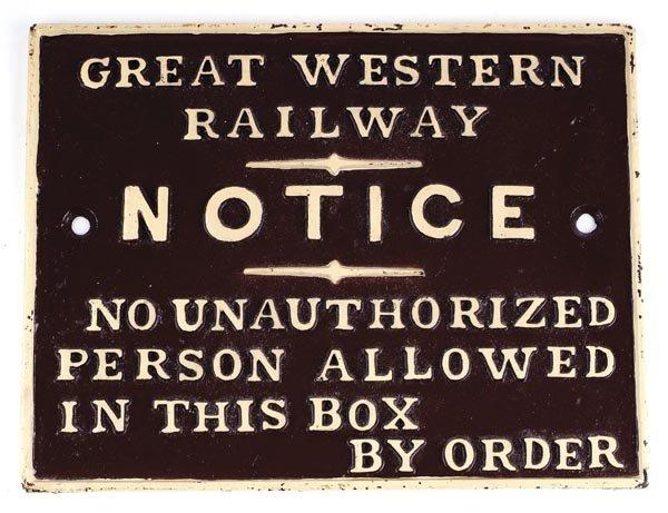 18: G.W.R. Signal Box Notice
