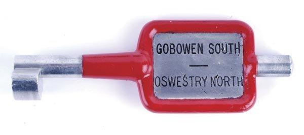 19: Gobowen South Alloy Key Token
