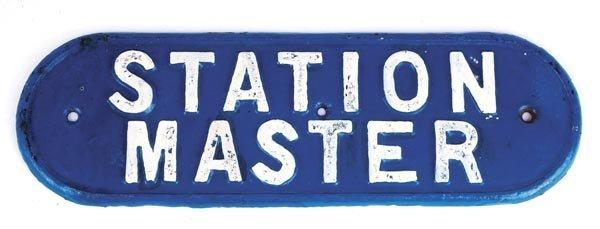 23: Station Master Sign