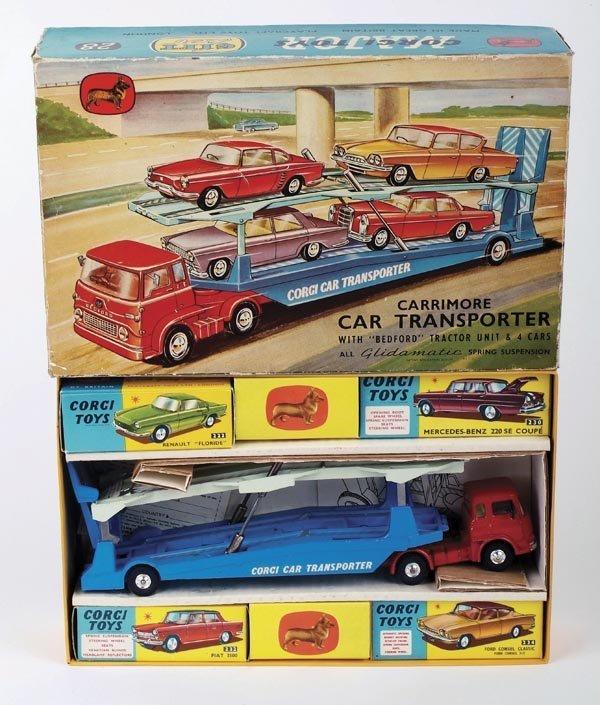 185: A Corgi gift set: Car Transporter.