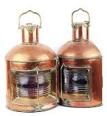 208 A pair of copper ships lights
