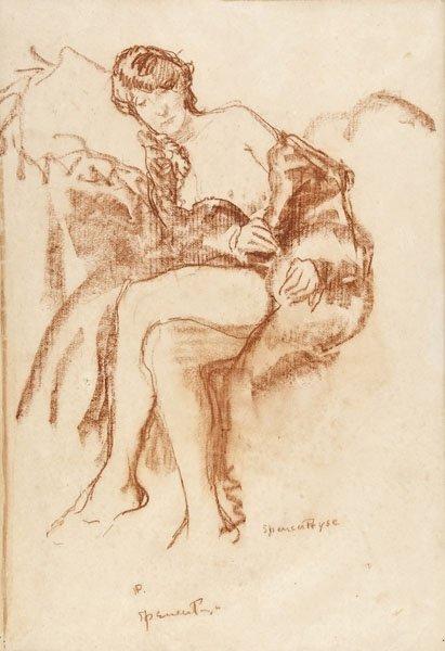 15: Gerald Spencer Pryse - Seated nude