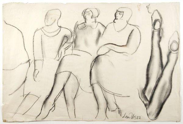 17: Leon Underwood - 4 sheets of figure studies