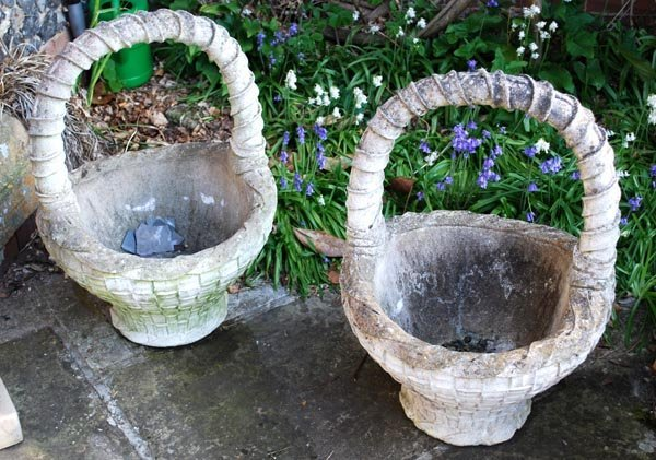 6: A pair of French reconstituted stone planters