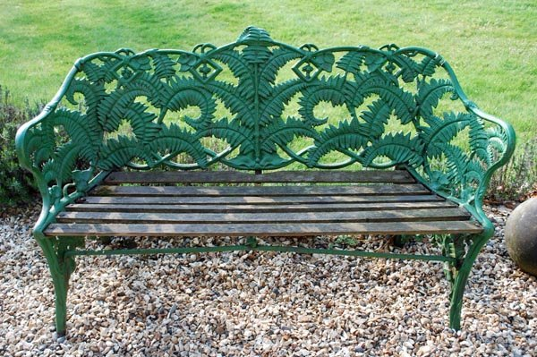 13: A Victorian painted cast iron Fern and Blackb