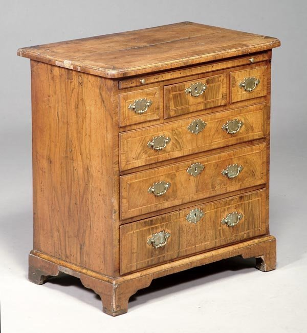 234: A George II walnut chest of drawers, circa 17