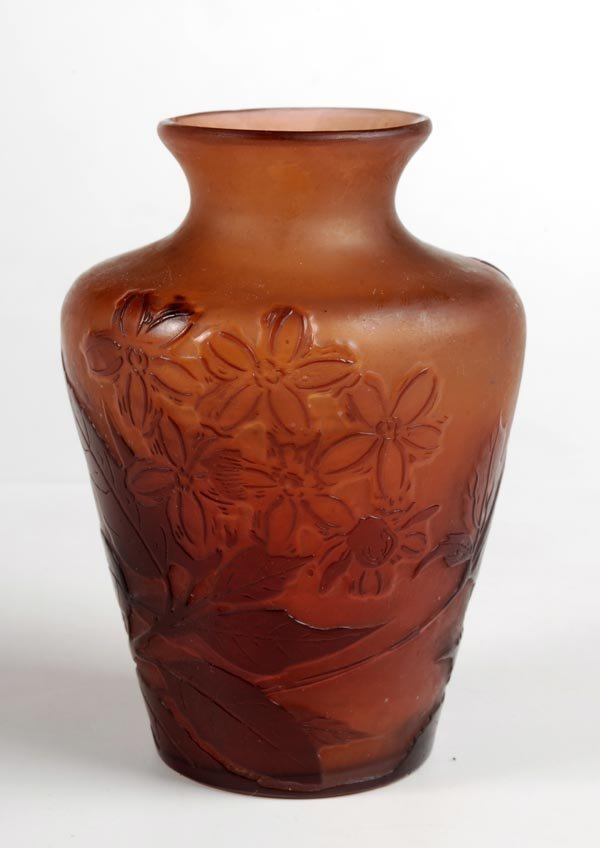 6: A Galle cameo glass small vase, of shoulder ovoidf