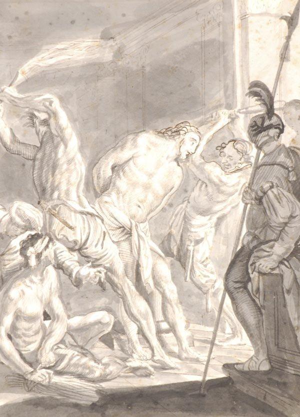 1: Manner of Sir Peter Paul Rubens, A Flagellation sc