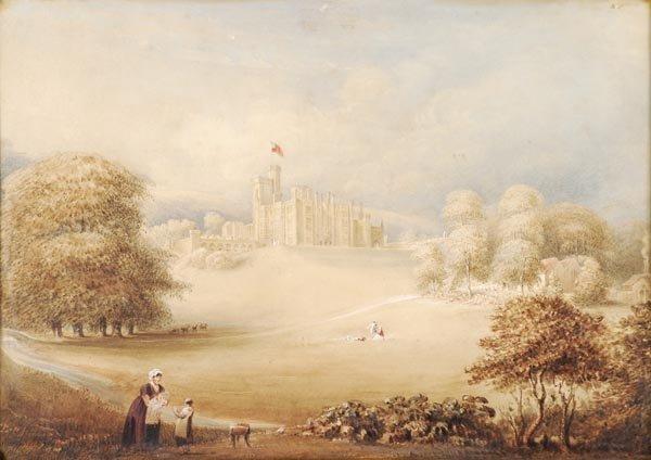 10: Follower of Joseph Nash, View of Highclere Castle