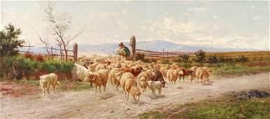 205: Alfredo de Simoni (late 19th century) Sheep and sh