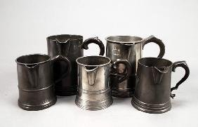 Two Victorian Pewter Quart Measures, Second Half 1