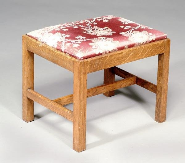 517: An oak and elm stool, in George III style, 19th ce
