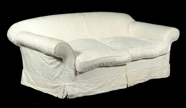 522: A pair of upholstered sofas, in Victorian style, 2