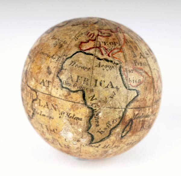4: A 1.5 inch terrestrial pocket globe, Unsigned, pro