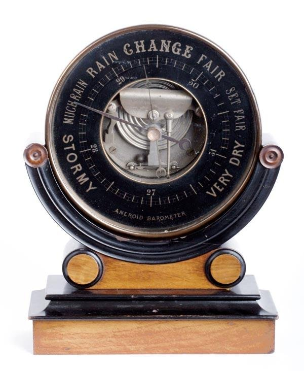 24: A Victorian aneroid barometer, Unsigned, late 19th