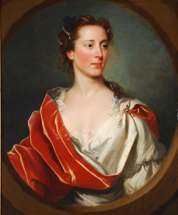 99: Allan Ramsay (1713-1784) Portrait of a lady, in a