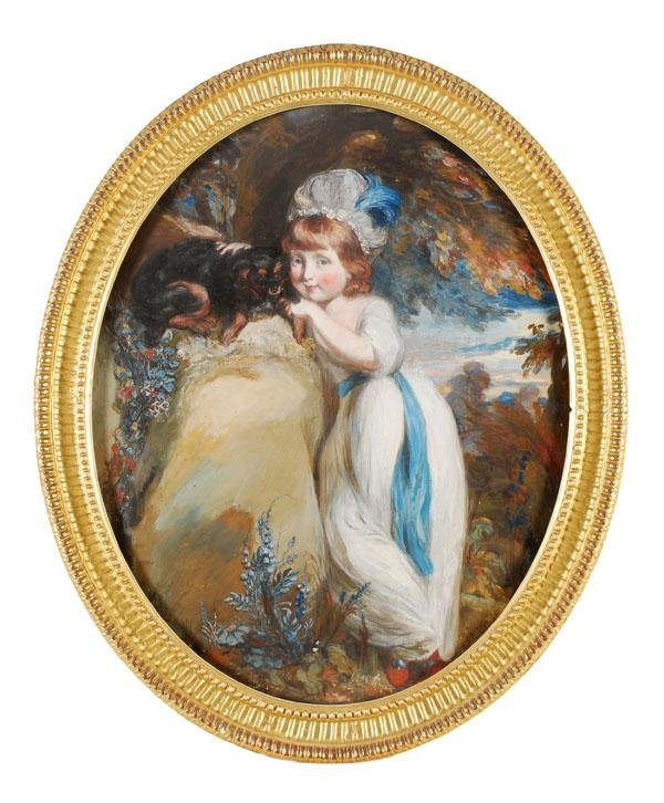 460: English School (19th century). Portrait of a young