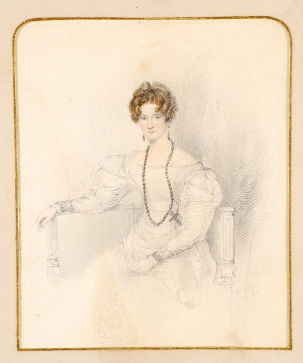 462: W. Moore (19th century). Portrait of a lady. Water