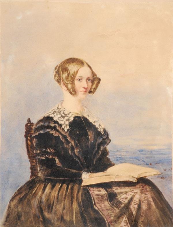 463: English School (19th century). Portrait of a lady
