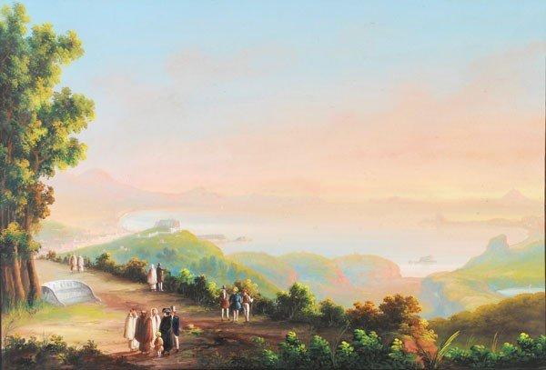470: Neapolitan School (19th century). Napoli da Posill