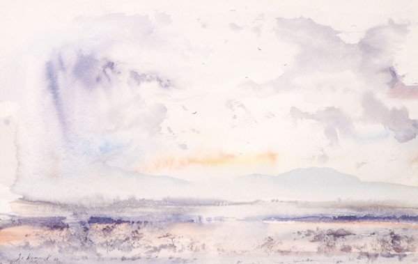 475: A group of six watercolours, including a Tuscan vi