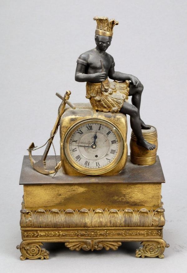 652: A Restauration ormolu and patinated bronze timepie