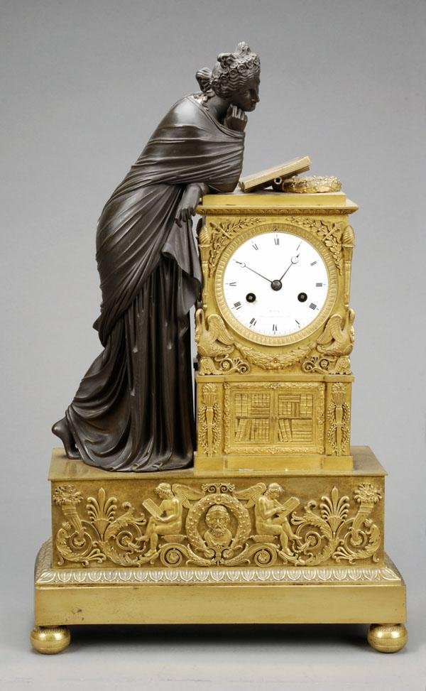 654: A Louis Philippe ormolu and patinated bronze cased