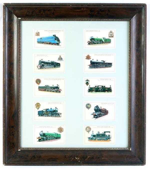 11: Ten Preston-Pickup colour postcards of railway loc