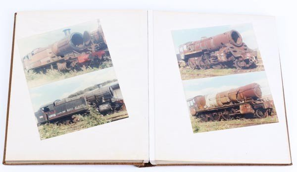 14: Sixty-four photographs of steam locomotives at Woo
