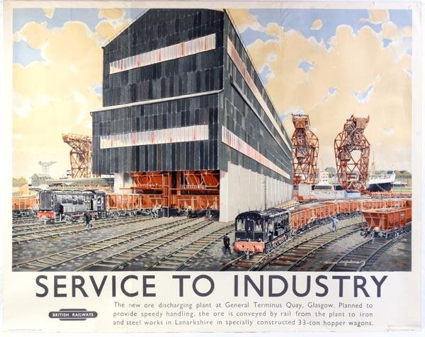 19: A British Railways poster, 'Service to Industry' [