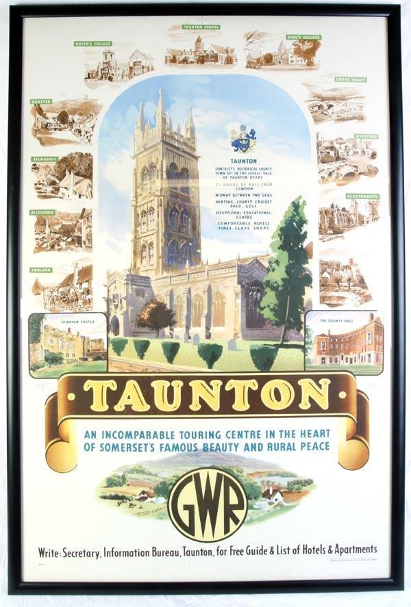 21: A Great Western Railway poster, 'Taunton', depicti