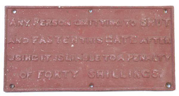 24: A Great Western Railway (untitled) cast iron sign