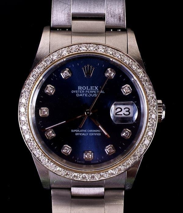 203: *Rolex, Oyster Perpetual DateJust, a gentleman's s