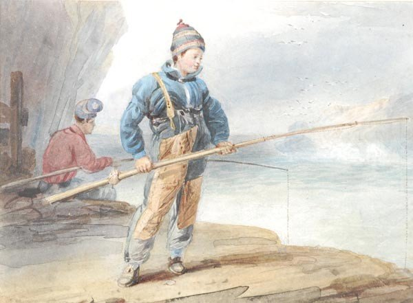 19: Attributed to Edward Duncan (1803-1882), Boys Fish