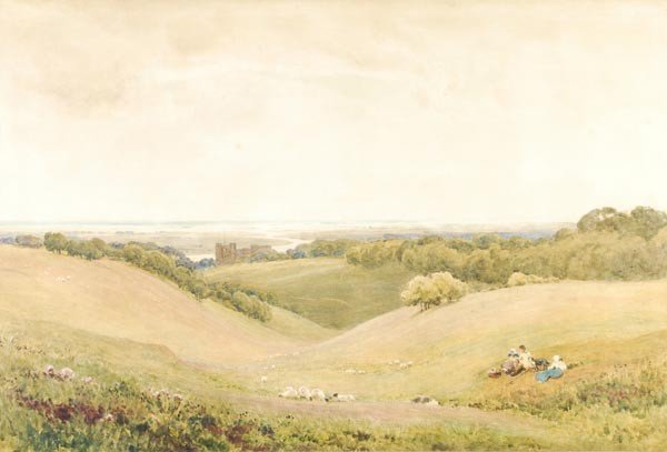 20: Robert Thorne Waite (1842-1935), Arundel Castle, w