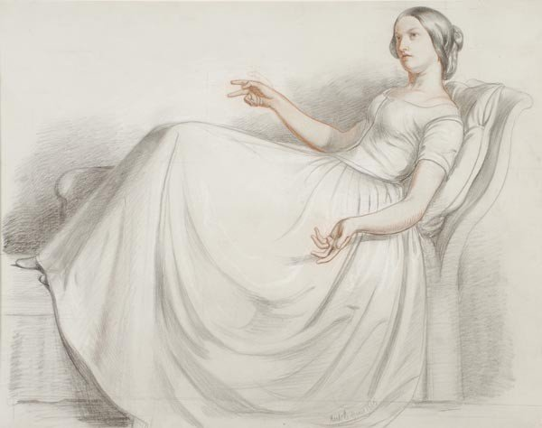 24: Richard Redgrave (1804-1888), Study for Fashion's