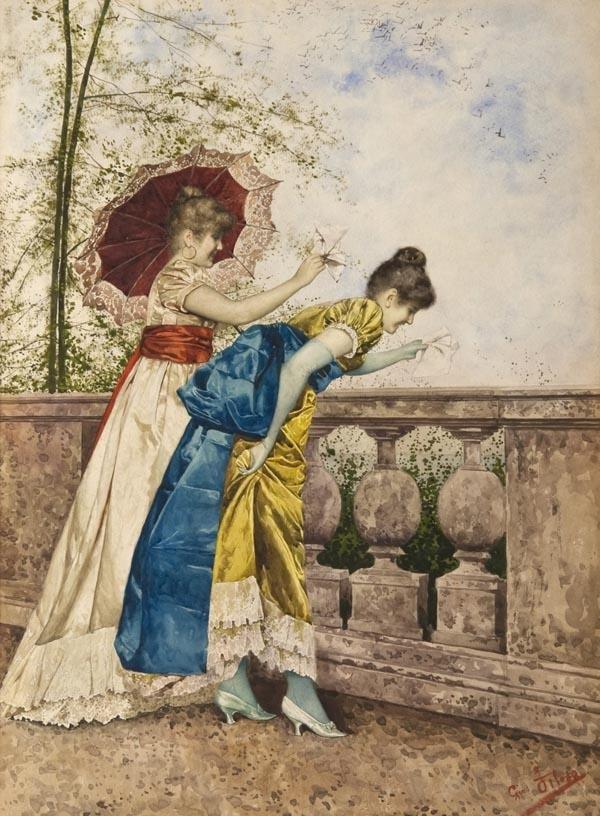 26: Giovanni Battista Filosa (1850-1935), Young ladies