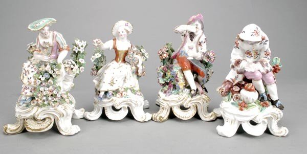 4: A set of four Bow figures emblematic of the Season