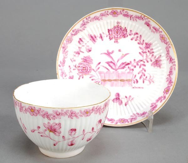 19: A dated commemorative Derby gadrooned teabowl and