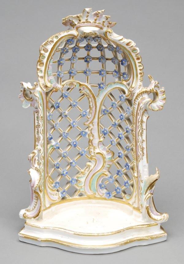 192: A Meissen trellis arbour, modelled en rocaille, 27