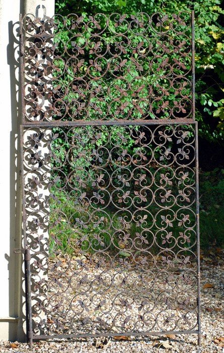 4: A pair of wrought iron gates, 19th century, each f